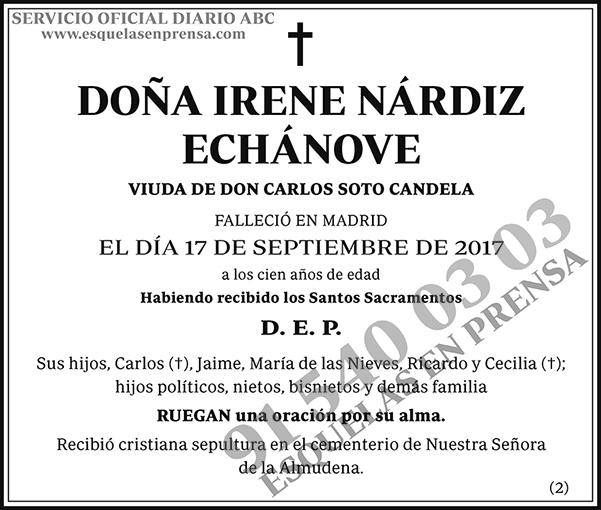 Irene Nárdiz Echánove